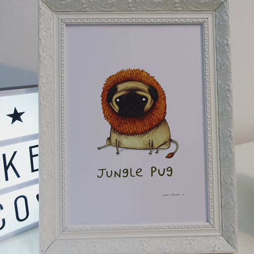 'Junglepug' Sophie Corrigan exclusive signed A4 Art print