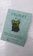 'Fruglet' Enamel pin - 'Pugs in Fancy Dress' series by Sophie Corrigan exclusive to Cupcake Pug Co