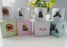 Jungle Pug full colour boxed Sophie Corrigan exclusive for Cupcake Pug Co mug