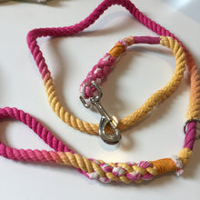 Haus of Hound hand dyed Shirobi double whipped 'Fruit Salad' rope leash