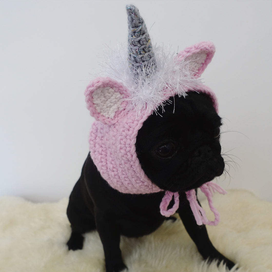 """Be a Unicorn"" Hand Crocheted fancy dress Unicorn hat."