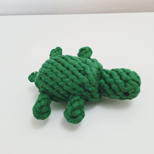 Knotted rope tortoise dog toy