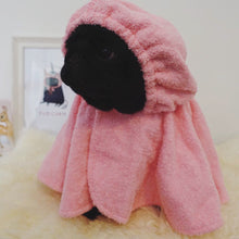 Pimp my Pug Pink towlen bathrobe as seen on Doug the Pug