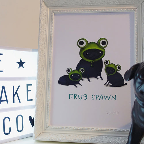 'Frugspawn' Sophie Corrigan exclusice signed A4 Art Print