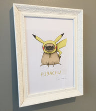 Pugachu Sophie Corrigan limited edition exclusive signed A4 Art print