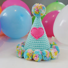 "Hand Crocheted Pooch Party Hats - ""Helium"""