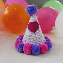 "Hand Crocheted Pooch Party Hats - ""Annabella"""