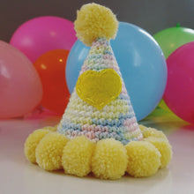 "Hand Crocheted Pooch Party Hats - ""Garden Party"""