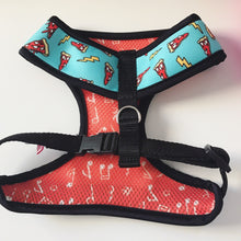 Pimp My Pug 'Got Pizza?' Reversible Italian harness