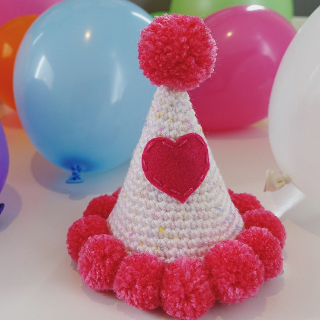 Hand Crocheted Pooch Party Hats -
