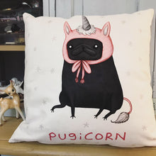 Pugicorn Vegan Suede Cushion - Sophie Corrigan Collab