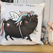 My Little Puggy - Black! Sophie Corrigan collab cushion