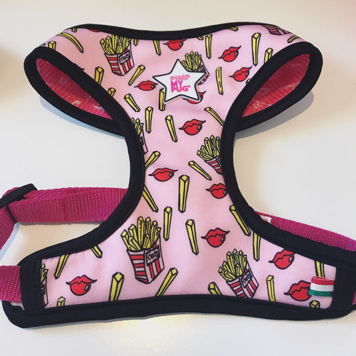Pimp My Pug Fries before Guys Italian reversible harness