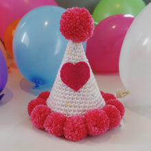 "Hand Crocheted Pooch Party Hats - ""Blossom"""