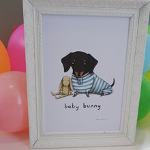 'Baby Bunny' Sophie Corrigan x Cupcake Pug Co signed A4 print