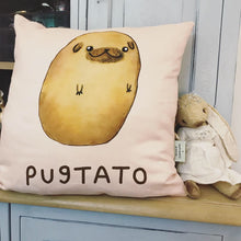 Pugtato by Sophie Corrigan Vegan Suede Cushion