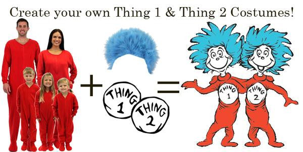 Create your own Thing 1 & Thing 2 Costumes!