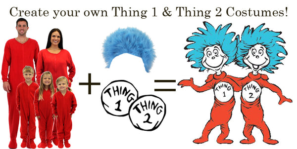 Create your own Thing 1 and Thing 2 Costumes!