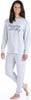 bSoft Women's Slouchy Lightweight Soft Knit Pullover and Jogger Pants Pajama Set