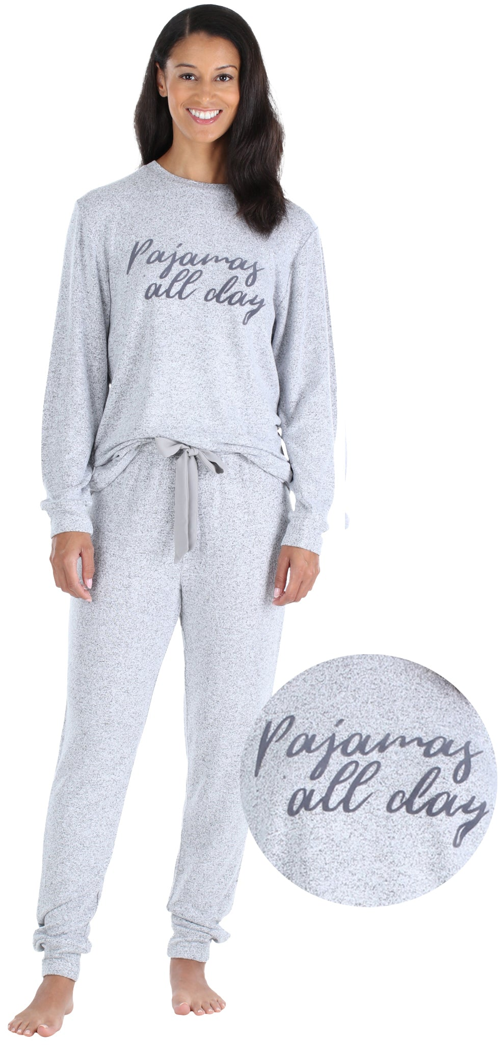 Family PJs Kids Winter Themed Print 1-Piece Half Zip Fleece Pajamas