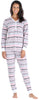 Olivia Rae Women's Thermal Pajama Set in Bear Jacquard