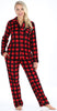 PajamaMania Women's Plush Fleece Long Sleeve 2-Piece Button-Down Pajamas