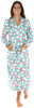 PajamaMania Women's Fun Printed Fleece Long Robes in Polar Bear