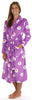 PajamaMania Women's Fun Printed Fleece Long Robes