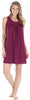PajamaMania Women's Stretchy Knit Sleeveless Nightgown Beach Cover Up Sleep Dress Pajama