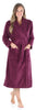 Sleepyheads Women's Plush Fleece Robe Jacquard Long Sleeve Bathrobe