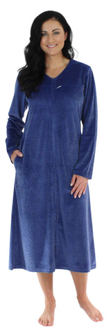 Sleepyheads Minky Fleece Zip Robe in Navy