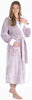 Sleepyheads Women's Fleece Long Sleeve Robe Sherpa-Lined Hooded Bathrobe