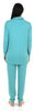Sleepyheads Women's Cowl Neck Long Sleeve Pajama Lounge Set