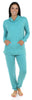Sleepyheads Women's Cowlneck Pajama in Light Blue