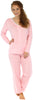 Sleepyheads Women's Lightweight Longsleeve Cotton Pajamas in Pink with White Dots
