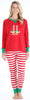 Sleepyheads Christmas Family Matching Red Stripe Elf Pajama for Women