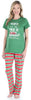 Sleepyheads Christmas Short Sleeve Family Matching Pajamas Green Striped Pajama Sets