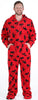 SleepytimePjs Family Matching Red Moose Onesie Footed Pajamas for Kids