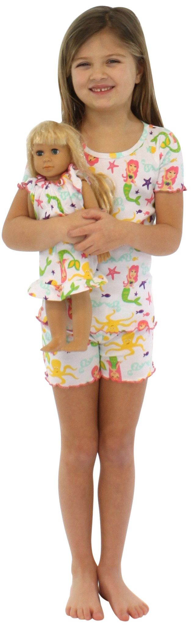 SleepytimePjs Kids Ruffle Shorts & Tee Pajama Set