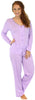 Sleepyheads Women's Lightweight Longsleeve Cotton Pajamas in Lavender with White Dots