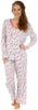Sleepyheads Women's Lightweight Longsleeve Cotton Pajamas in Blue Roses
