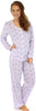 Sleepyheads Women's Lightweight Longsleeve Cotton Pajamas