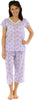Sleepyheads Women's Short Sleeve and Capri Cotton Pajamas