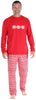 SleepytimePJs Family Matching Knit Red Snowflake Pajama for men