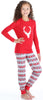 SleepytimePjs Red Holiday Family Matching Fair Isle Deer Pajama Sets for Kids