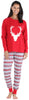 SleepytimePJs Family Matching Knit Red Deer Pajama for women