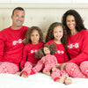 SleepytimePjs Red Holiday Family Matching Winter Snowflake Pajama Sets