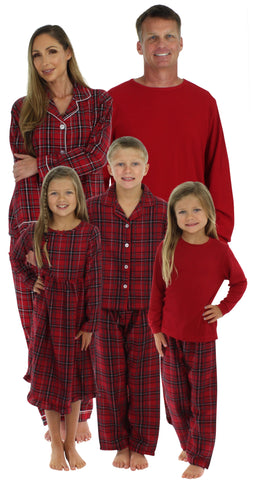 SleepytimePjs Family Matching Plaid Thermal Pajamas for the Family
