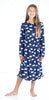 SleepytimePjs Christmas Family Matching Navy Bear Fleece Pajama Set for Girls