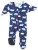 SleepytimePjs Christmas Family Matching Navy Bear Fleece Pajama Set for Infant